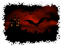 tło Halloween straszny ilustracja wektor