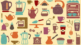 Tło herbata i kawa royalty ilustracja