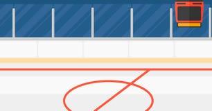 Tło hokejowy stadium royalty ilustracja
