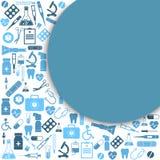 Tło ikony sprzęt medyczny royalty ilustracja