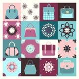 Tło ikony ustawiać moda zdosą - ilustrację Fotografia Stock