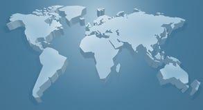 tło ilustracja odizolowywał mapa świat wektorowego biały ilustracja wektor