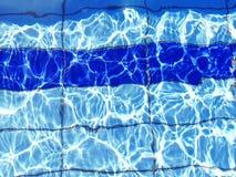 Tło jaskrawa błękita jasnego woda w basenie fotografia royalty free