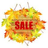 Tło jesieni sprzedaż Obrazy Royalty Free