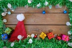 Tło karta z ornamentami dla święto bożęgo narodzenia Zdjęcie Stock