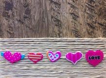 tło karty serca różowy kwieciste korony Fotografia Royalty Free