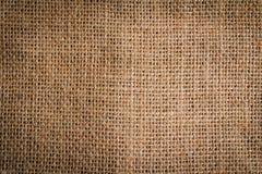 Tło kawałek burlap odgórny widok zdjęcie stock