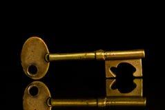 tło klucz czarny złoty Obrazy Royalty Free