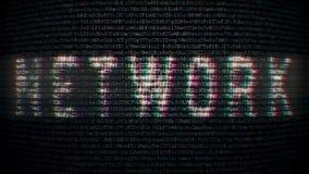 Tło kodu styl z tekst siecią royalty ilustracja