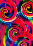tło kolorowa tapeta Kolorowy abstrakcjonistyczny akrylowy obraz mikstura koloru tło Czerwony tło ilustracji