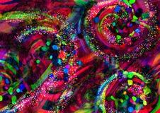 tło kolorowa tapeta Kolorowy abstrakcjonistyczny akrylowy obraz mikstura koloru tło Czerwony tło fotografia stock