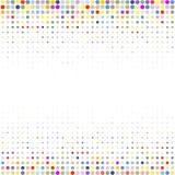 Tło kolorowe kropki różni rozmiary różną gęstość na bielu ilustracji