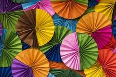Tło, kolorowy okręgu papier Zdjęcie Stock