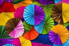 Tło, kolorowy okręgu papier Zdjęcie Royalty Free