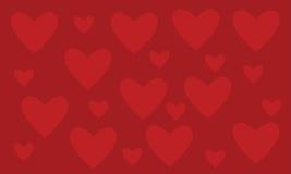 tło koloru czerwień z miłością Zdjęcia Stock