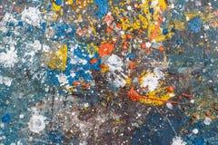Tło koloru kropel pluśnięcia Obraz Stock