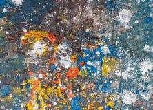 Tło koloru kropel pluśnięcia Obraz Royalty Free