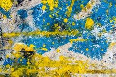Tło koloru kropel pluśnięcia Obrazy Royalty Free