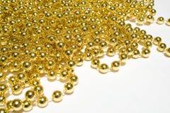 tło koralika złoto Obraz Stock