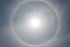 Tło Korona słoneczna, pierścionek wokoło słońca zdjęcia stock