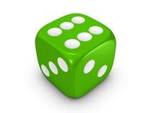 tło kostka do gry zielenieją biel Zdjęcia Stock