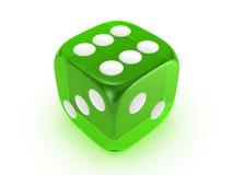 tło kostka do gry zielenieją półprzezroczystego biel Zdjęcie Stock