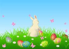 tło królik Easter ilustracji