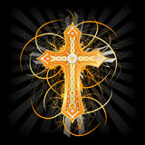 tło krzyż ilustracja wektor