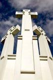 tło krzyżuje niebo trzy Obraz Stock