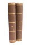tło książki odizolowywali starego biel zdjęcie stock