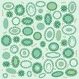 tło kształty zieleni cenni Obrazy Royalty Free