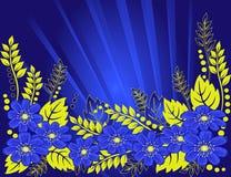 tło kwiaty piękni błękitny Obrazy Royalty Free