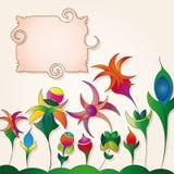tło kwiaty przylepiać etykietkę dziwacznego Zdjęcie Stock