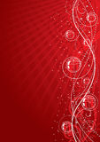 tło kwiecista czerwień royalty ilustracja
