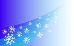 Tło latający płatki śniegu Ilustracja Wektor
