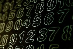 Tło liczby od zero, dziewięć Liczy teksturę 3d coloured waluty wysokiego ilustracyjnego wizerunku wielo- postanowienia symbole mn zdjęcie royalty free