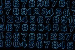Tło liczby od zero, dziewięć Liczy teksturę 3d coloured waluty wysokiego ilustracyjnego wizerunku wielo- postanowienia symbole mn obrazy royalty free