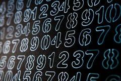 Tło liczby od zero, dziewięć Liczy teksturę 3d coloured waluty wysokiego ilustracyjnego wizerunku wielo- postanowienia symbole mn zdjęcia stock