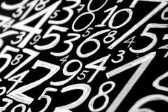 Tło liczby od zero, dziewięć Liczy teksturę 3d coloured waluty wysokiego ilustracyjnego wizerunku wielo- postanowienia symbole mn obraz royalty free