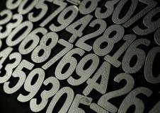 Tło liczby od zero, dziewięć tła ilustracyjny liczb wektor Liczy teksturę Mathematics pojęcie obrazy stock