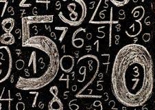 Tło liczby od zero, dziewięć tła ilustracyjny liczb wektor Liczy teksturę Mathematics pojęcie obrazy royalty free