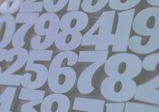 Tło liczby od zero, dziewięć tła ilustracyjny liczb wektor Liczy teksturę Mathematics pojęcie obraz stock
