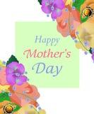 Tło matek dzień z pięknym kwiatu kartka z pozdrowieniami Projekt dla plakatów, sztandarów lub kart, wektor Zdjęcie Royalty Free