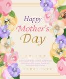 Tło matek dzień z pięknym kwiatu kartka z pozdrowieniami Projekt dla plakatów, sztandarów lub kart, wektor Obrazy Royalty Free
