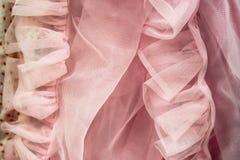Tło miękkich części menchii sieci napuszona tkanina obraz stock