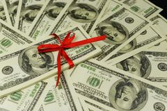 Tło mnóstwo banknoty pieniądze gotówka fotografia royalty free