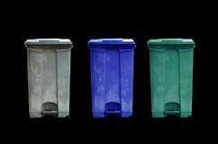 tło może śmieci odizolowywający biel Obrazy Royalty Free