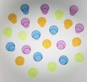 Tło multicolor mali plastikowi szkła Obraz Royalty Free