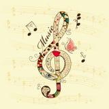 tło musical Zdjęcia Royalty Free