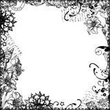 tło narzuta kwiecista ramowa ilustracji
